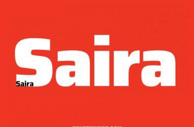 Saira Font Family Free Download
