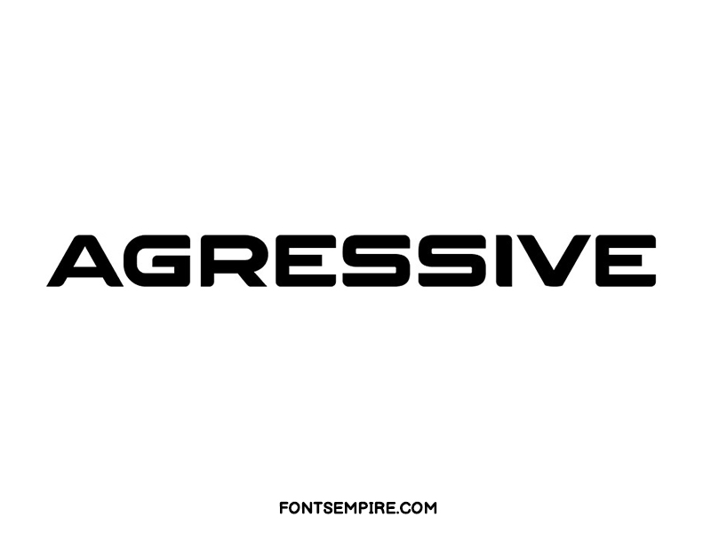Agressive Font Family Free Download