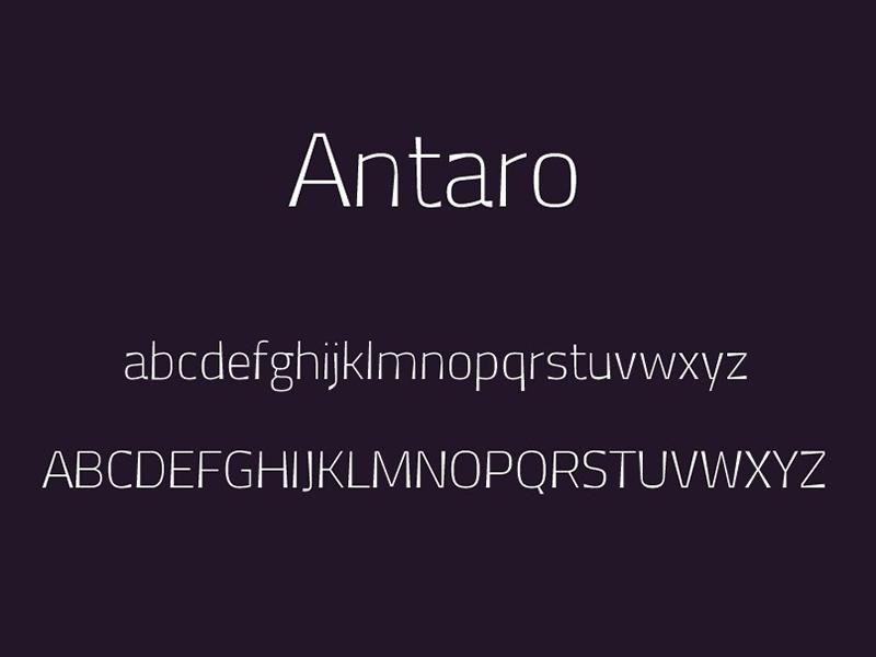 Antaro Font Free Download