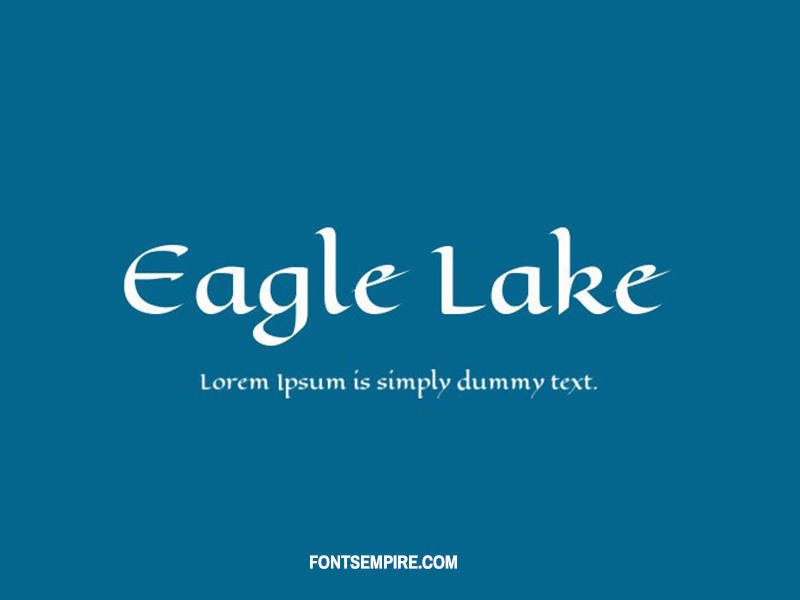 Eagle Lake Font Family Free Download