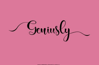Geniusly Calligraphy Font Family Free Download