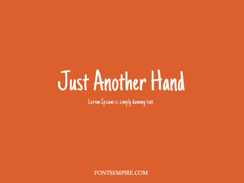 Just Another Hand Font Family Free Download
