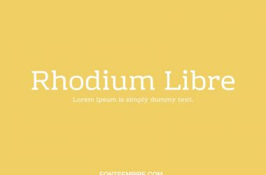 Rhodium Libre Font Family Free Download