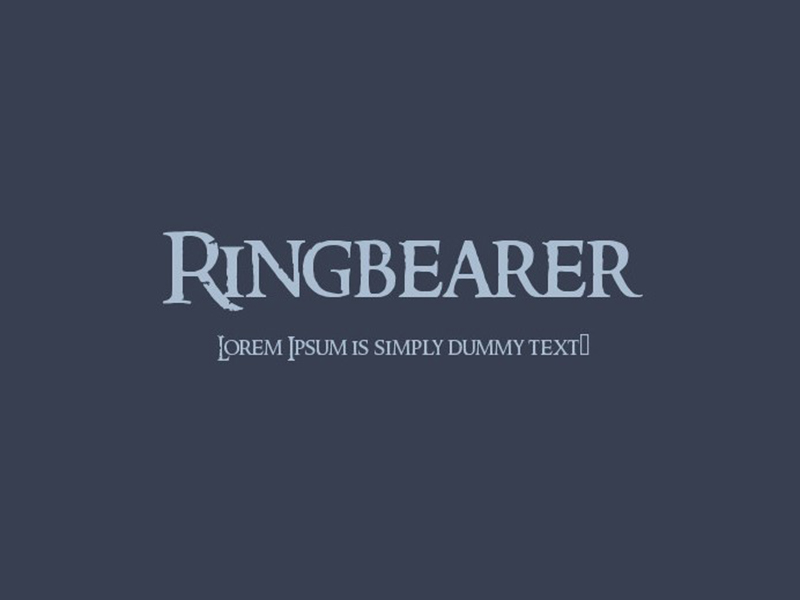 Ringbearer Font Family Free Download