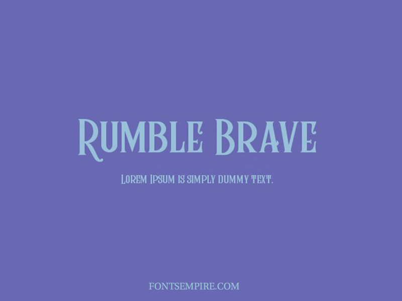 Rumble Brave Font Family Free Download