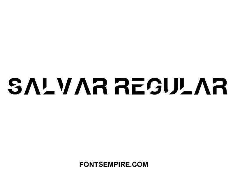 Salvar Font Family Free Download
