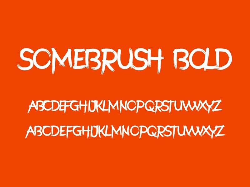 Somebrush Font Free Download