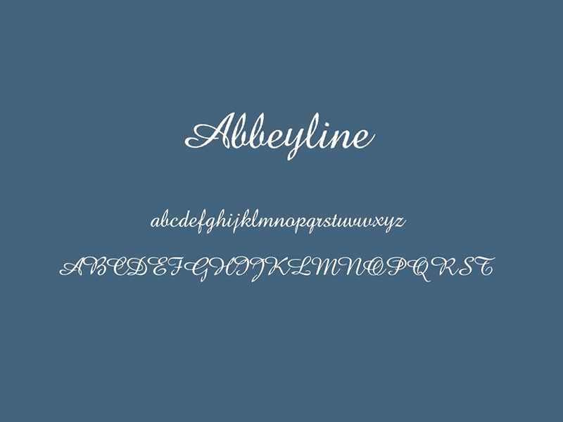 Abbeylin Font Family Download
