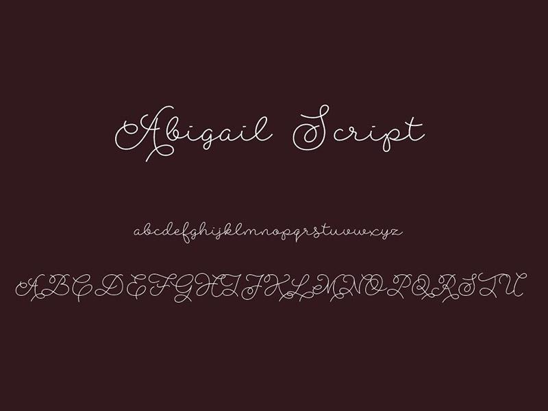 Abigail Script Font Family Download