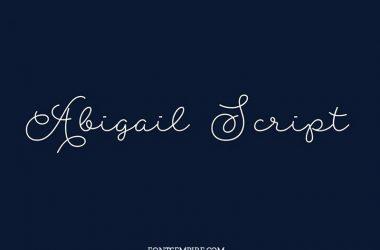 Abigail Script Font Family Free Download