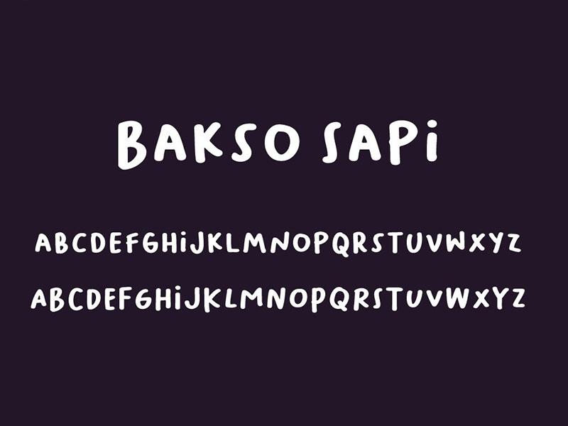 Baksosapi Font Family Download