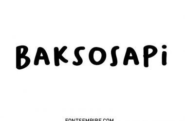 Baksosapi Font Family Free Download