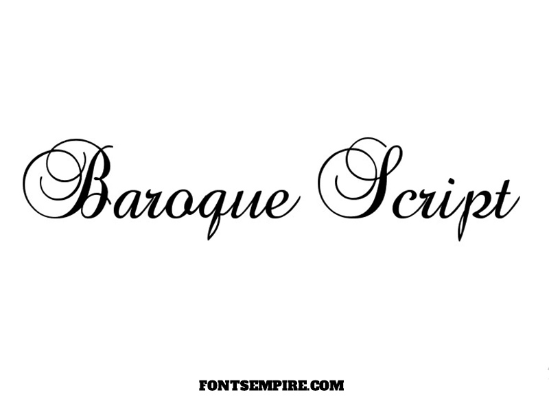 Baroque Script Font Family Free Download