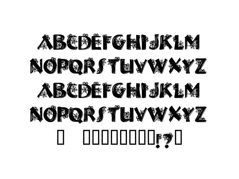 Halloween Spider Font Family Download