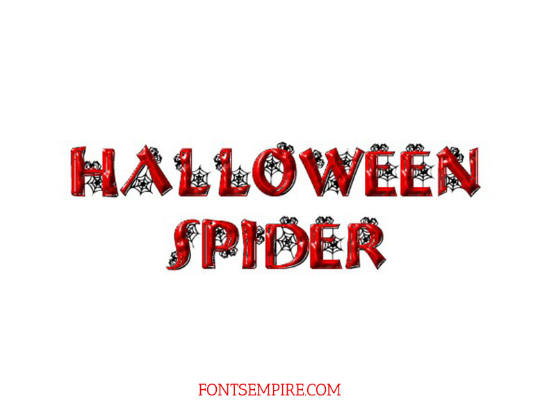 Halloween Spider Font Family Free Download